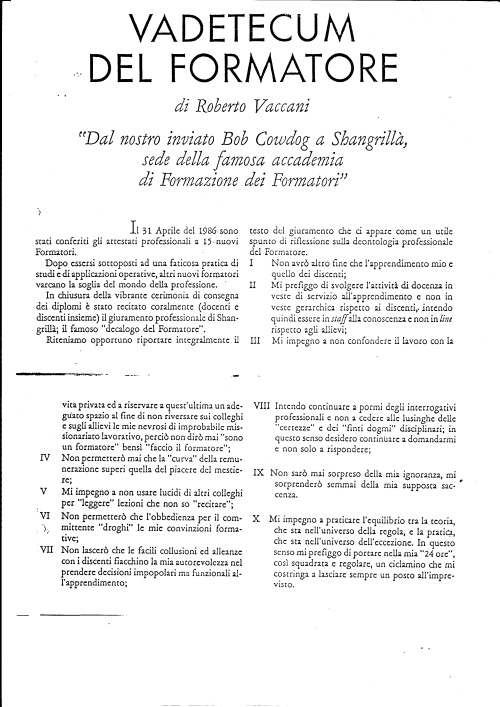 Sono passati molti anni, il documento non è molto leggibile. Secondo noi però è molto attuale.