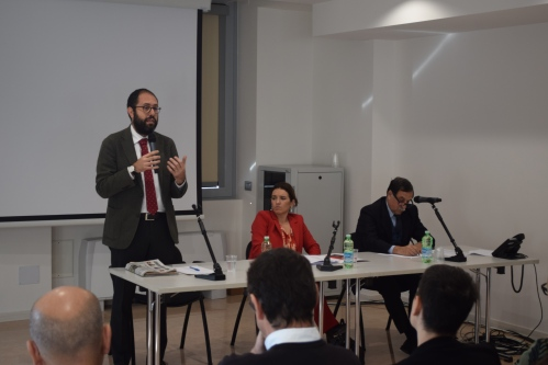Il Sottosegretario Nannicini, l'Onorevole Rotta, il Sottosegretario Rossi.